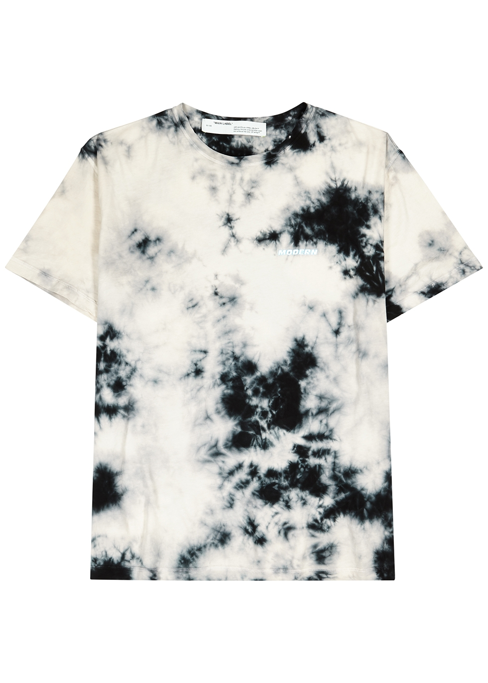 Grey tie-dyed cotton T-shirt