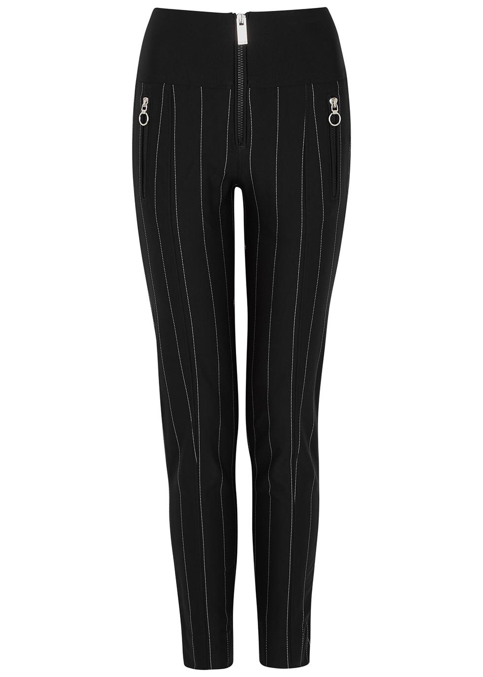 Minimalist pinstriped jersey trousers