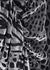 Leopard-devoré asymmetric midi dress - Giuseppe di Morabito