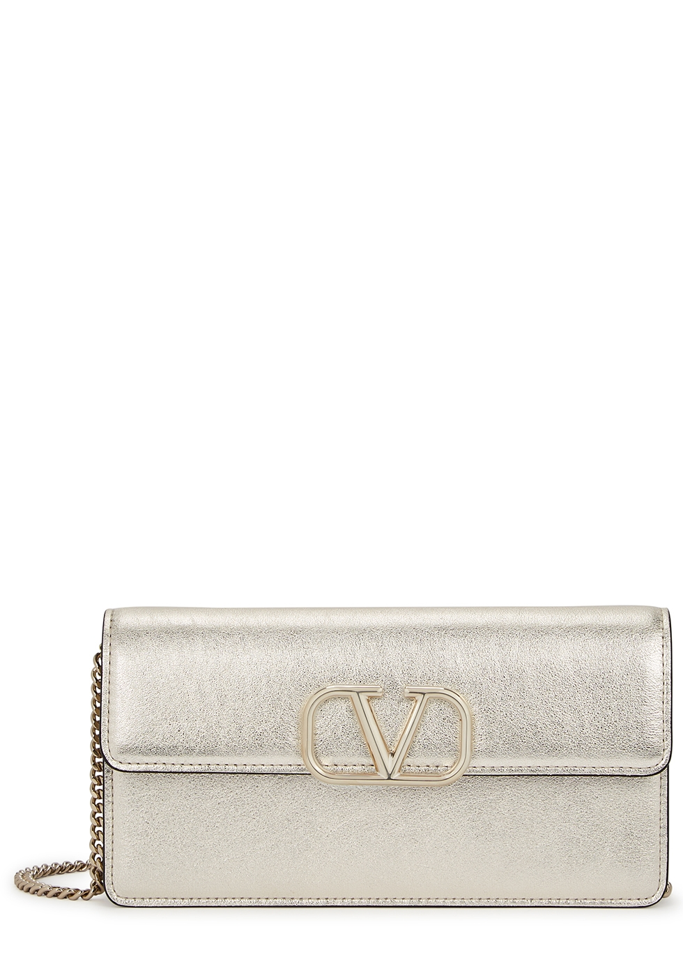 Valentino Garavani VRing leather wallet-on-chain