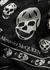 Black skull-print silk scarf - Alexander McQueen