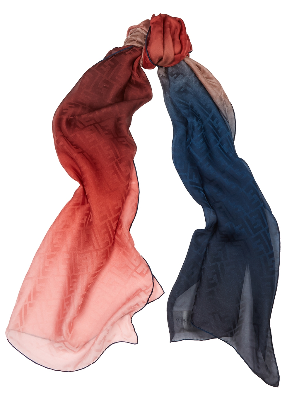 Dégradé monogrammed silk scarf