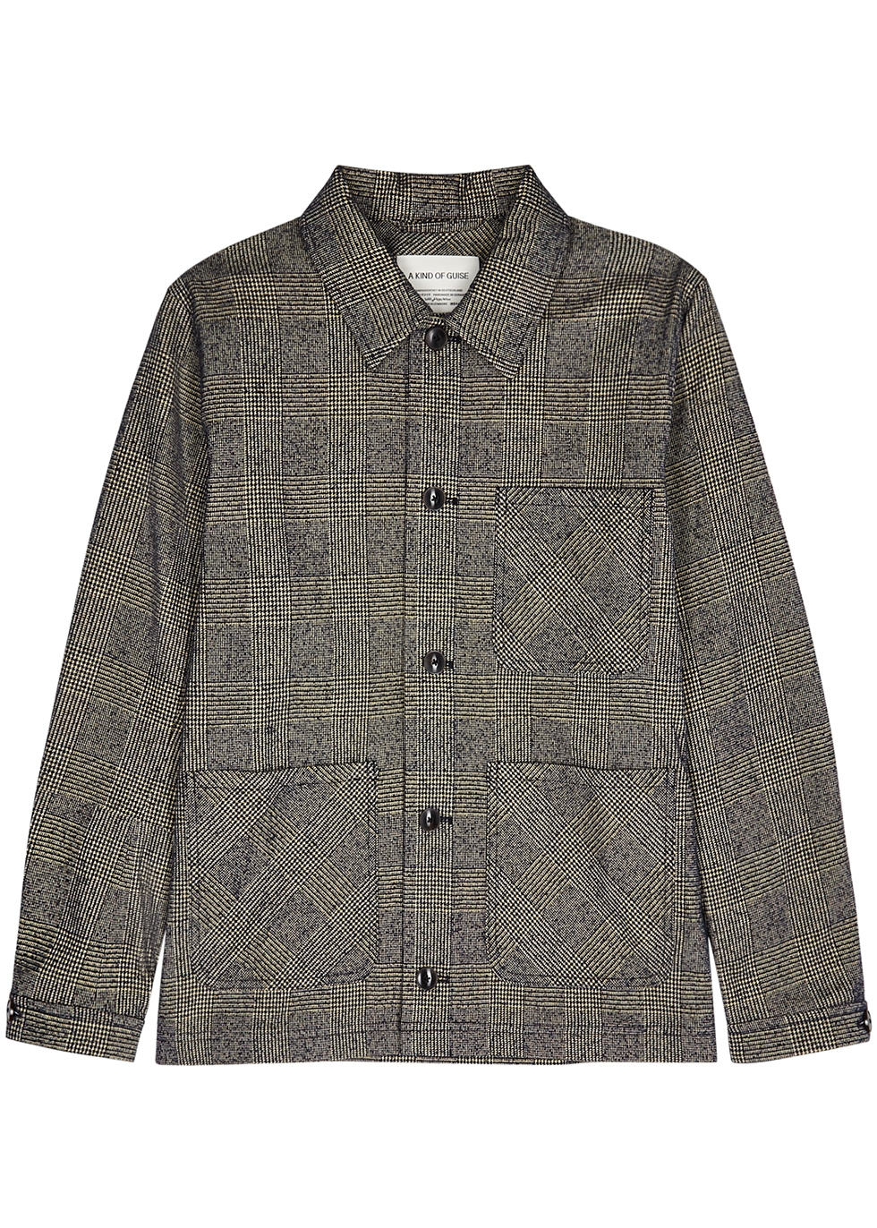 Ashanti checked cotton-blend jacket