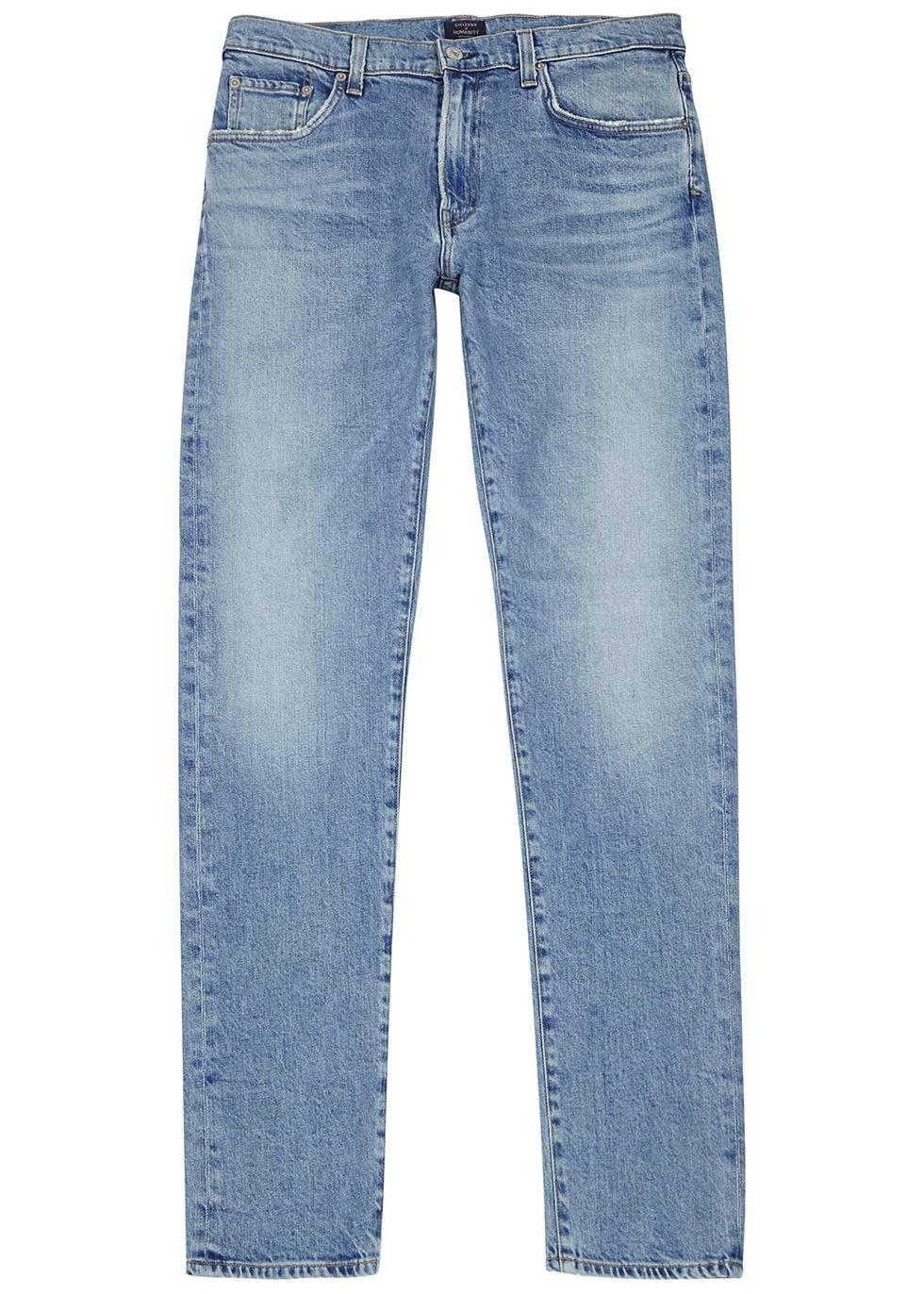 Bowery blue slim-leg jeans