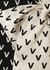 Monochrome logo-print silk-twill blouse - Valentino