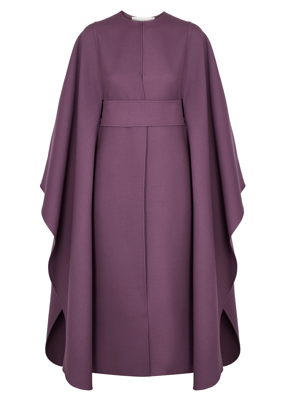 Purple wool-twill cape