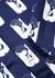 Navy printed cotton shirt - Kenzo