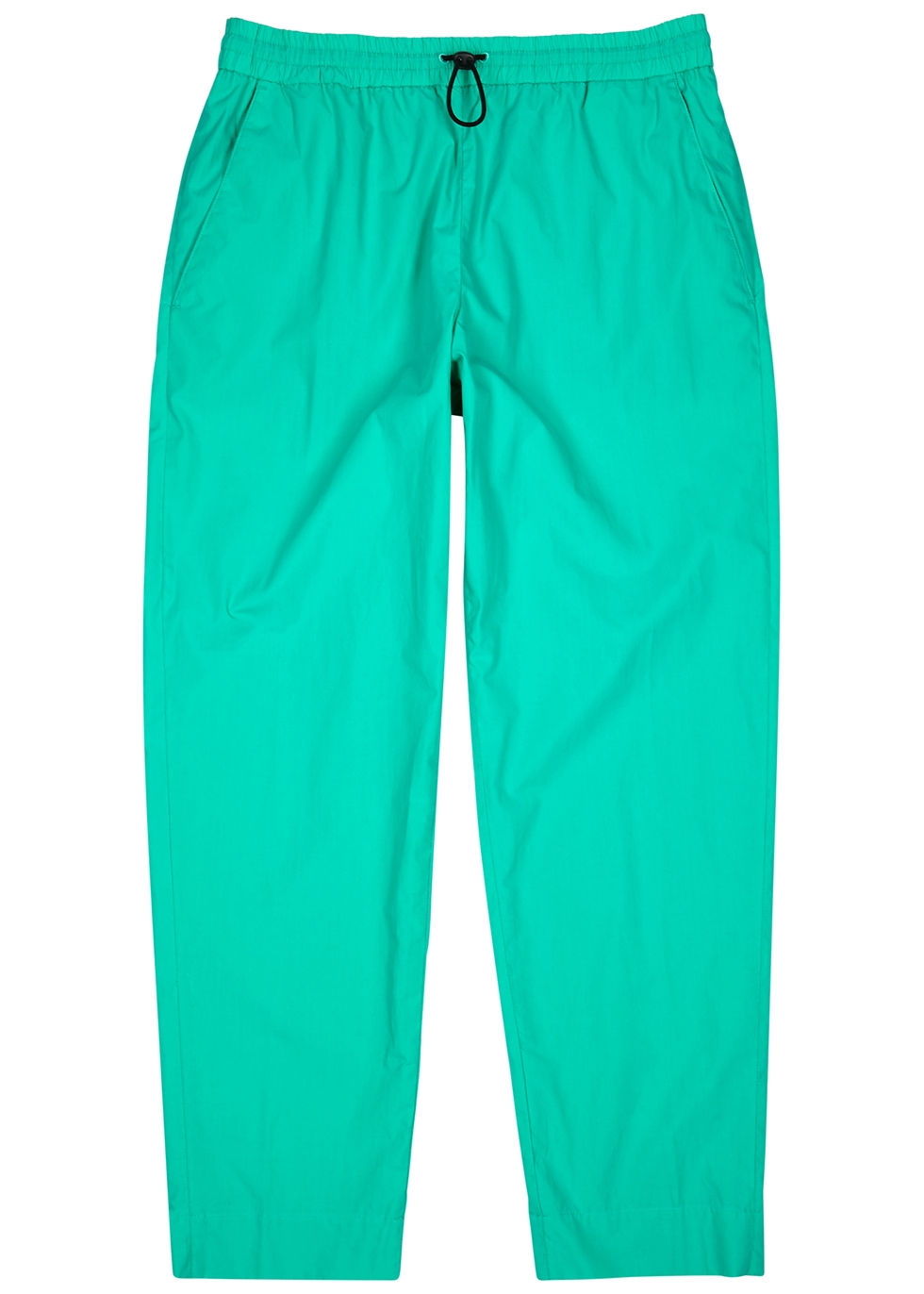 Turquoise cotton sweatpants