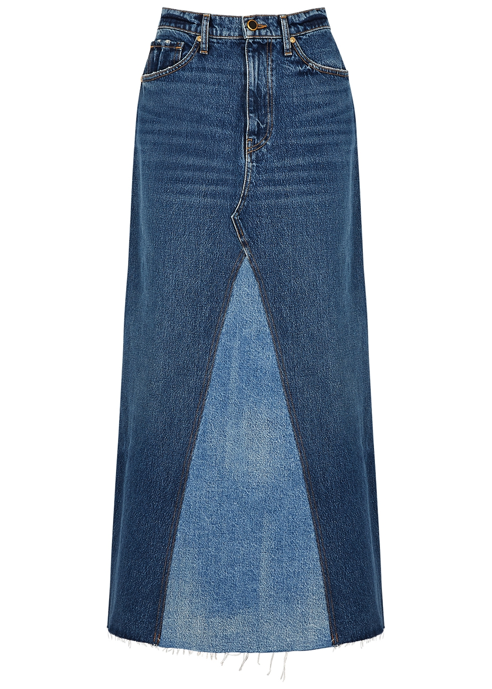 Magdalena blue denim maxi skirt