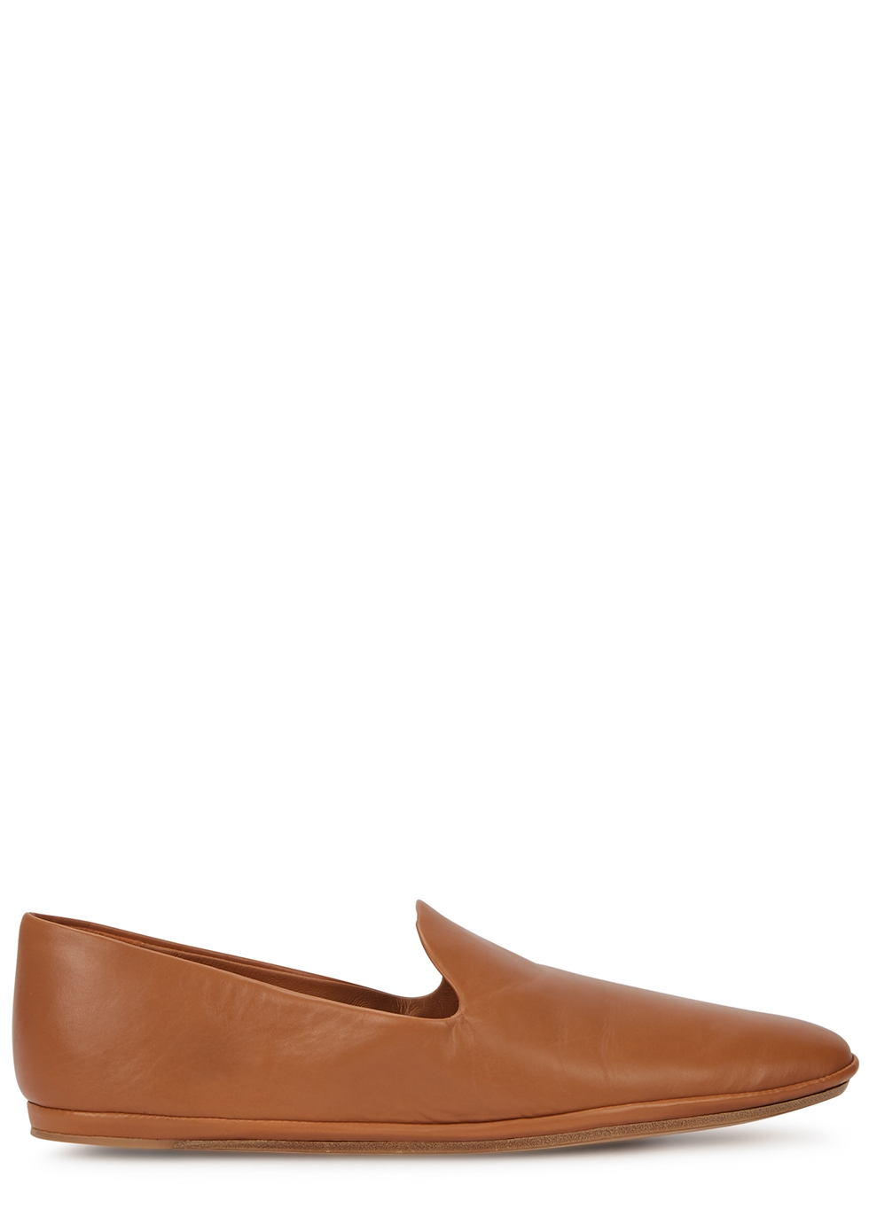 Paz brown leather loafers