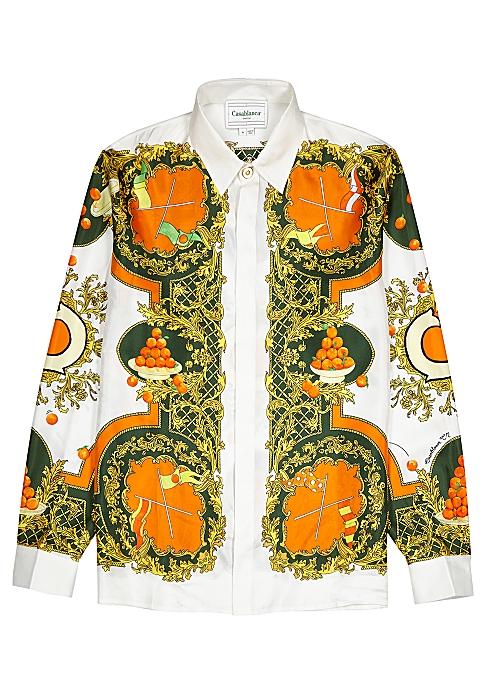 CASABLANCA Les Oranges printed silk shirt