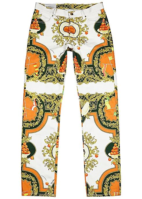 CASABLANCA Les Oranges printed slim-leg jeans