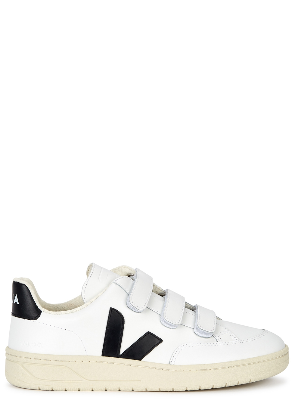V-Lock white leather sneakers