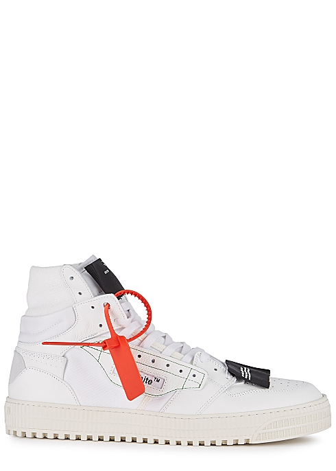 OFF-WHITE Off-Court 3.0 white leather hi-top sneakers