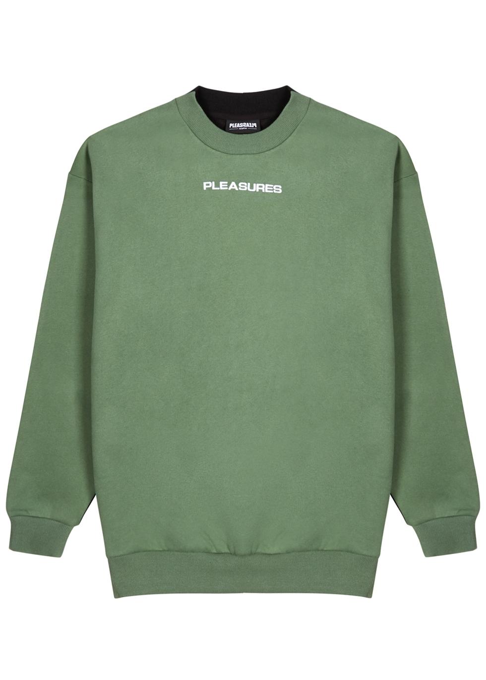 Experience panelled cotton-blend sweatshirt