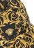 Black baroque-print twill cap - Versace