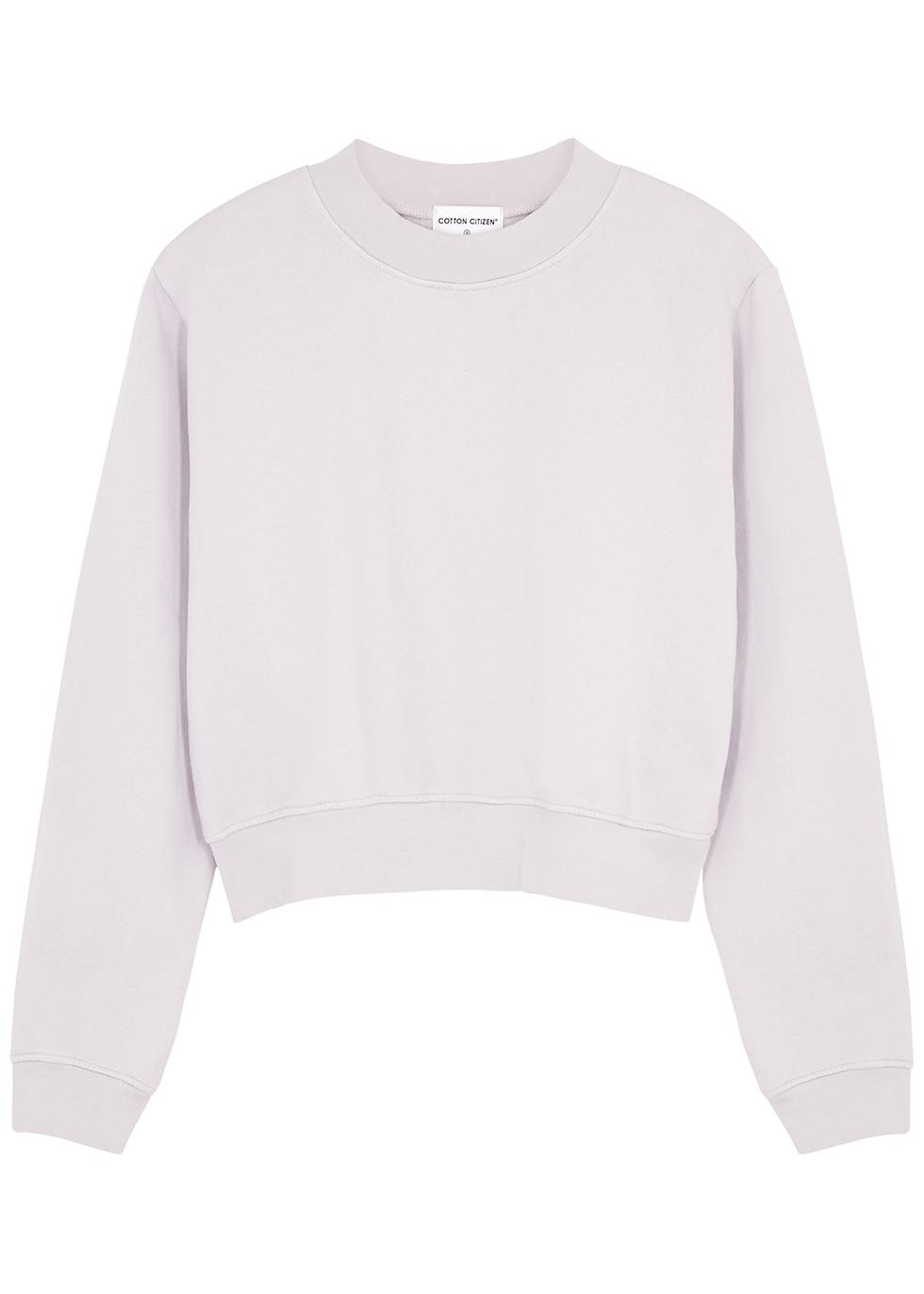 Milan light grey cotton sweatshirt