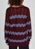Bordeaux zigzag cotton-blend cardigan - M Missoni