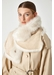 Two button shearling snood scarf - Gushlow & Cole