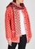 Pink and burgundy GG-jacquard wool scarf - Gucci