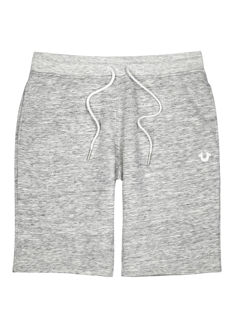 Grey cotton-blend shorts