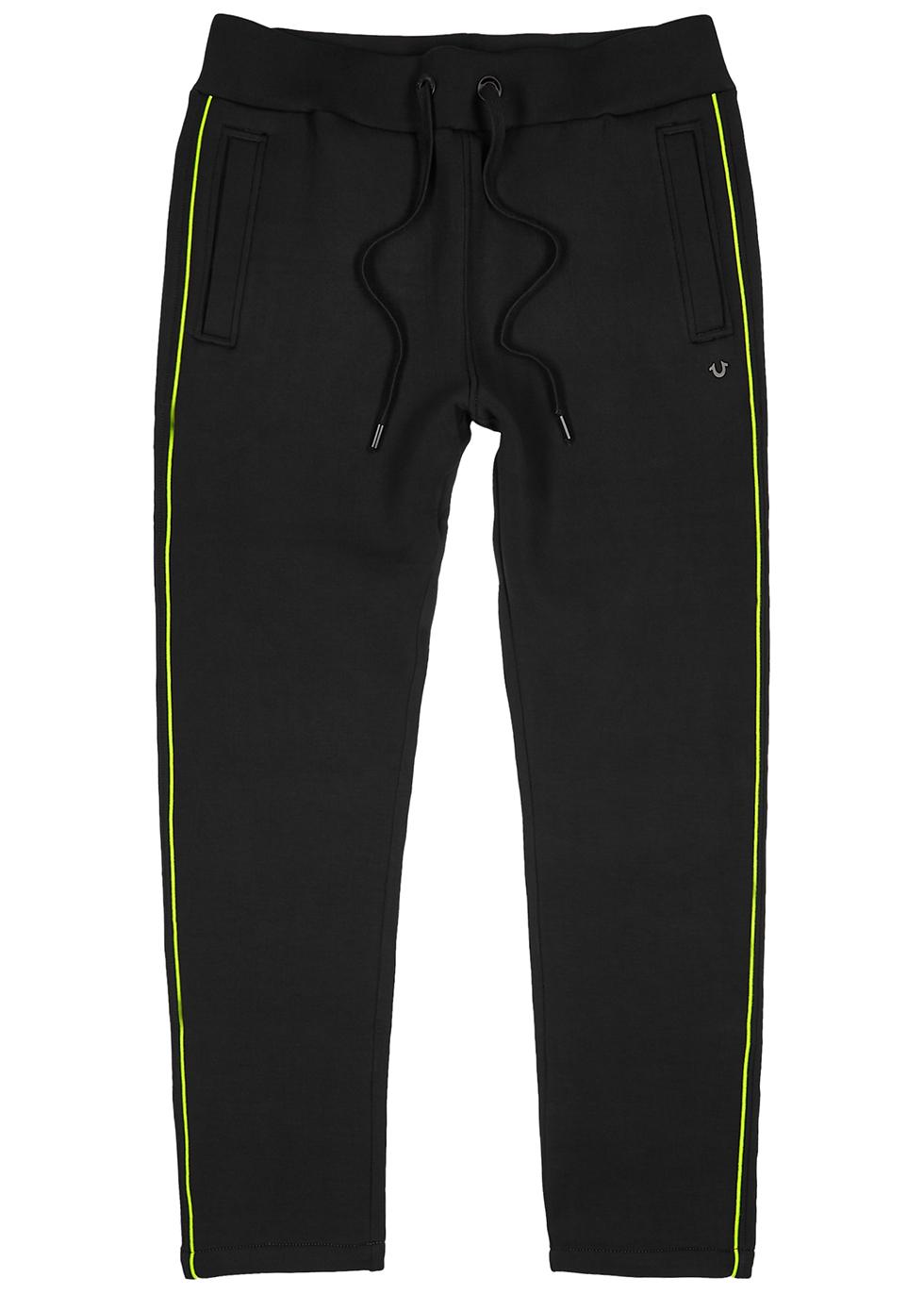 Black neoprene sweatpants