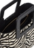 Shirley mini zebra-print calf hair top handle bag - STAUD