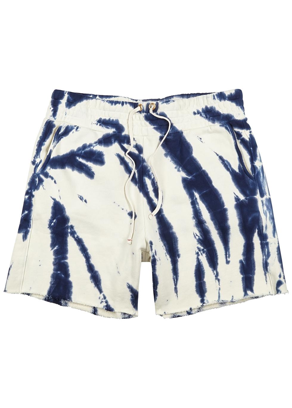 Yacht tie-dye cotton shorts