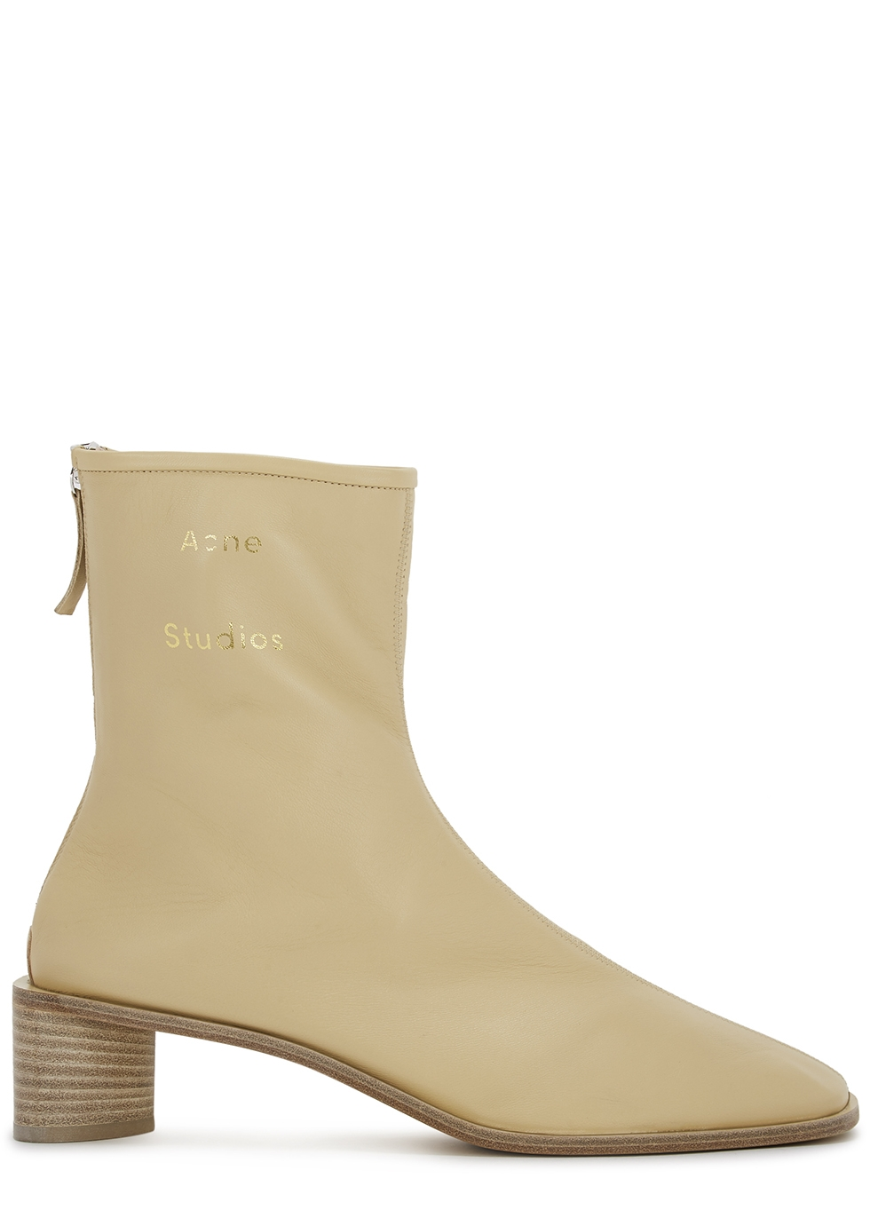 45 sand leather ankle boots