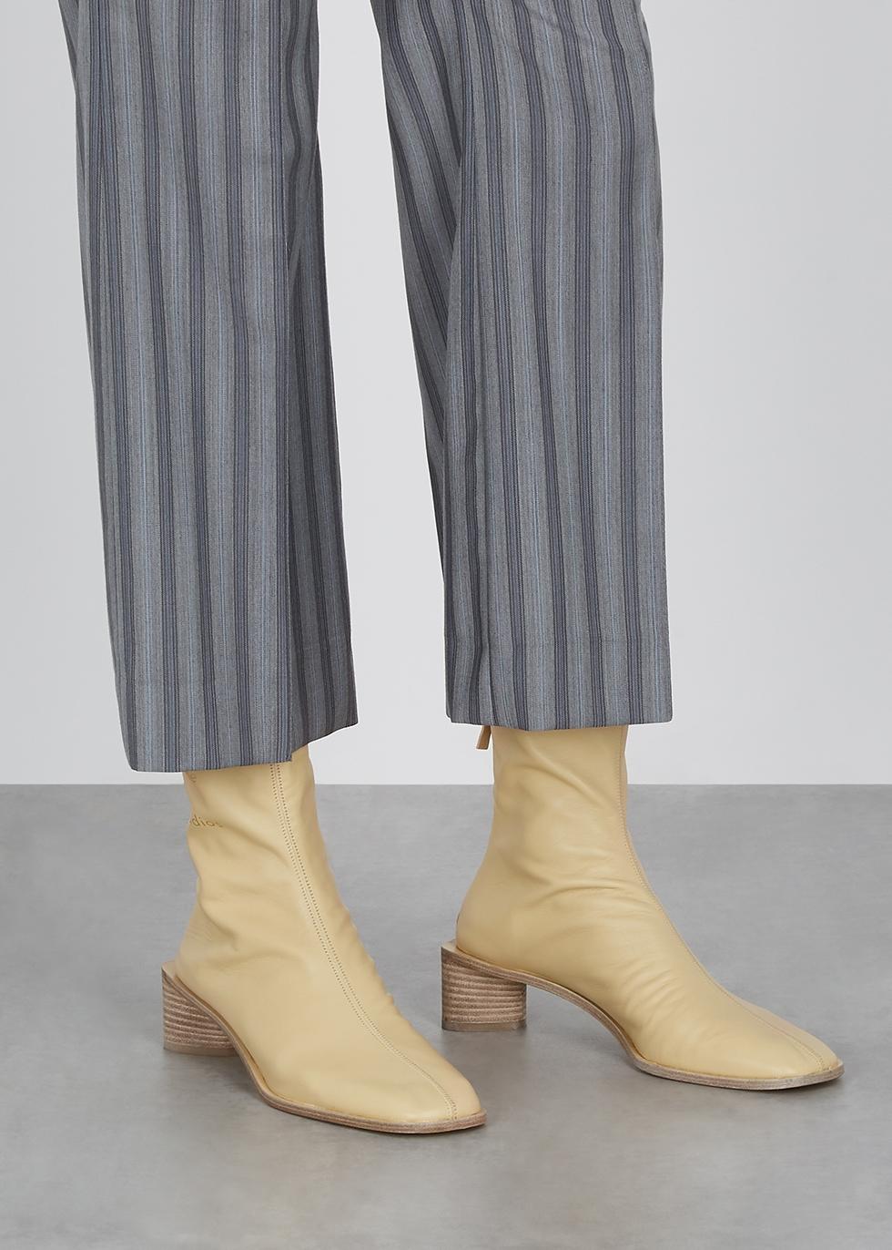 Acne Studios 45 sand leather ankle