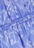 Blue printed crepe de chine midi dress - Kenzo