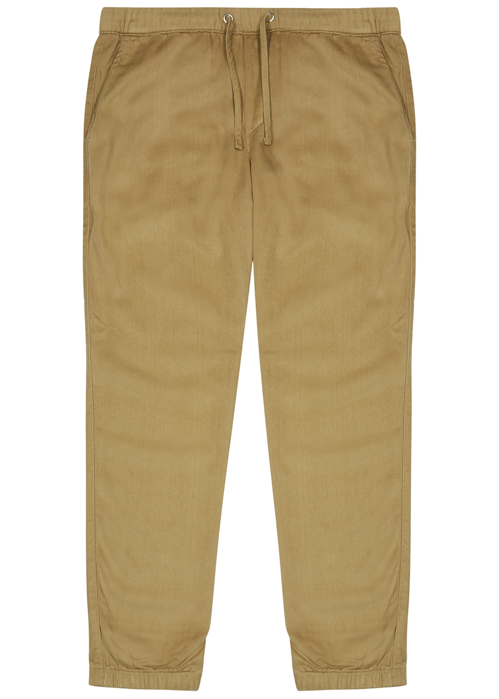 Pelle camel twill trousers