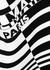 Monochrome striped stretch-knit bodysuit - Balmain