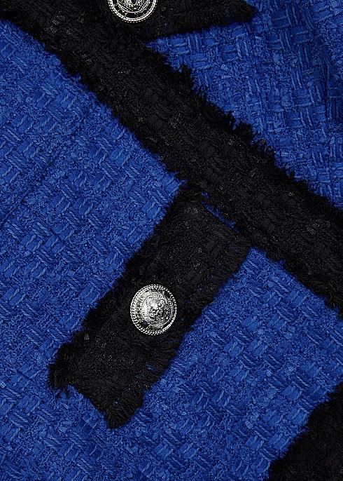 Cobalt blue tweed jacket - Balmain