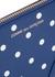 Small blue polka-dot leather pouch - Comme des Garçons
