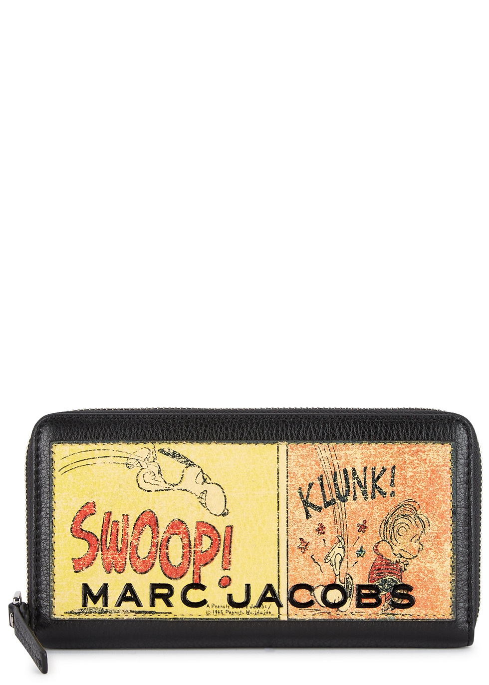 X Peanuts printed leather wallet