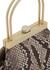 Estelle mini python-effect leather top handle bag - Cult Gaia