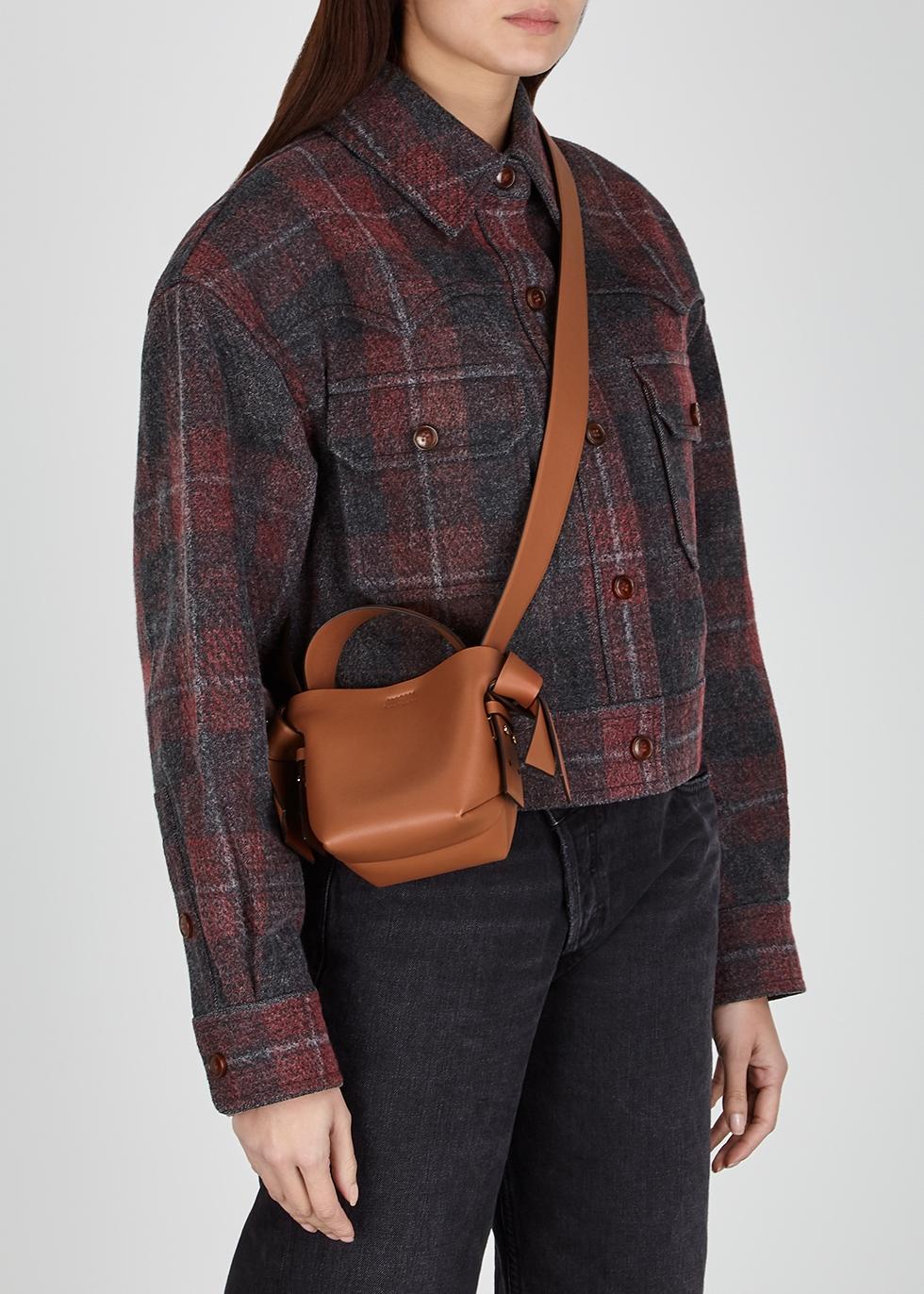 Acne Studios Musubi micro brown leather cross body bag