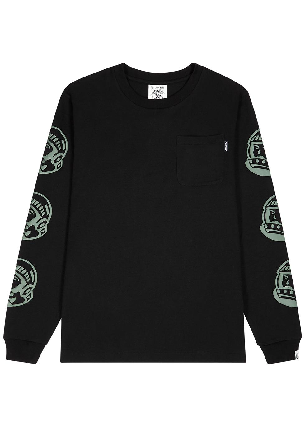 Astro repeat black cotton T-shirt
