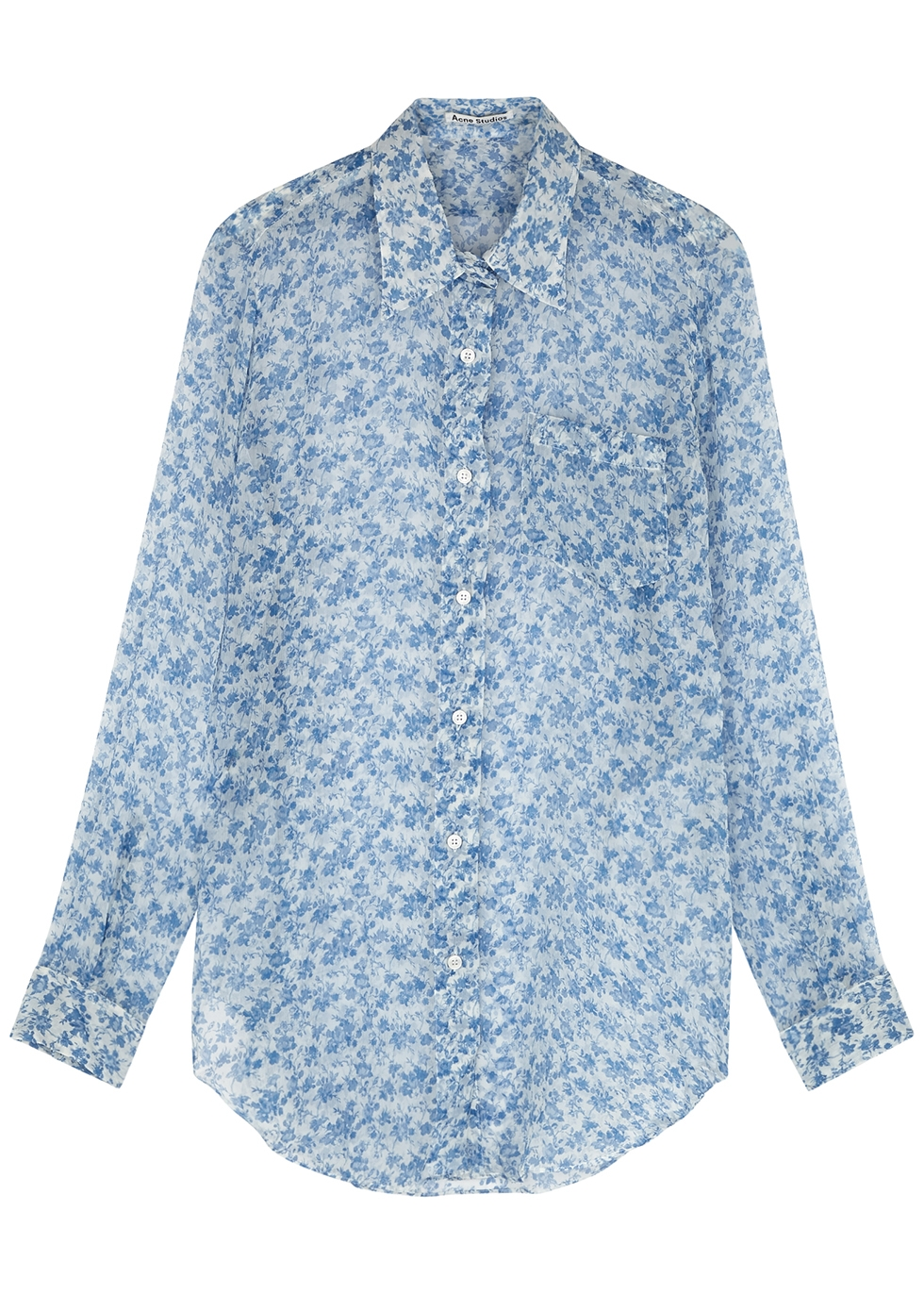 Sophi floral-print silk-georgette shirt