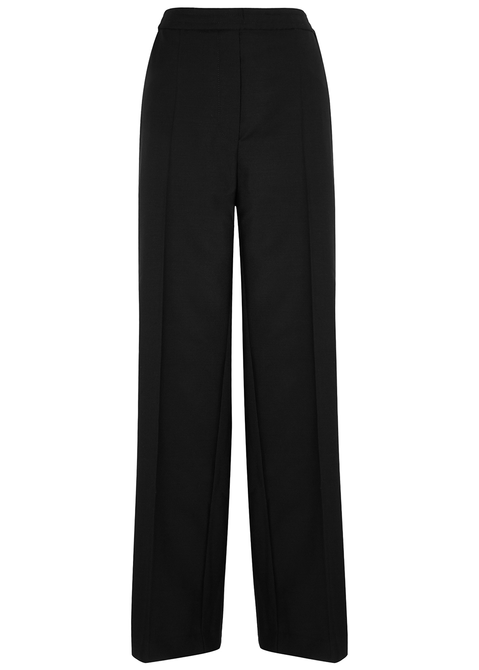 Paminne black straight-leg trousers