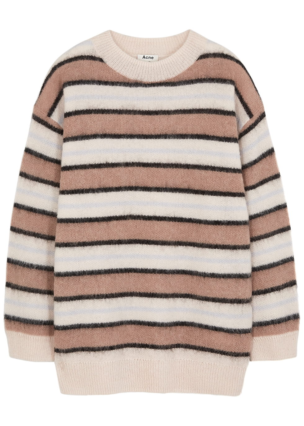 Karalynn striped fine-knit jumper