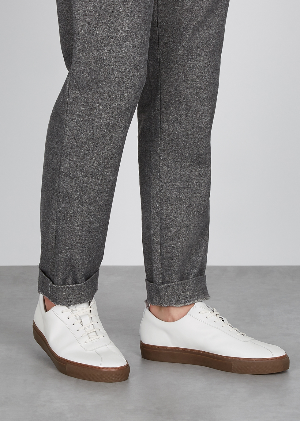 white leather sneakers - Harvey Nichols
