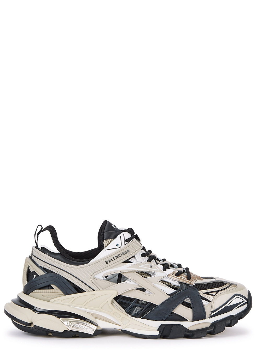 Track2 taupe and black mesh sneakers