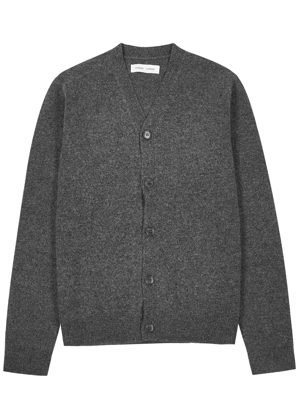 Corno grey wool cardigan