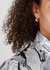 Silver-tone hoop earrings - Jil Sander
