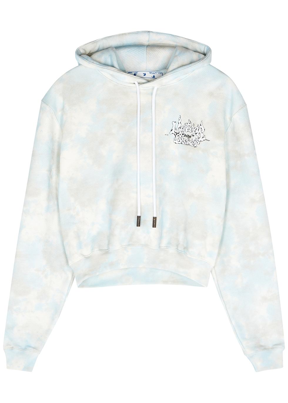 Meteor Shower tie-dyed cotton sweatshirt
