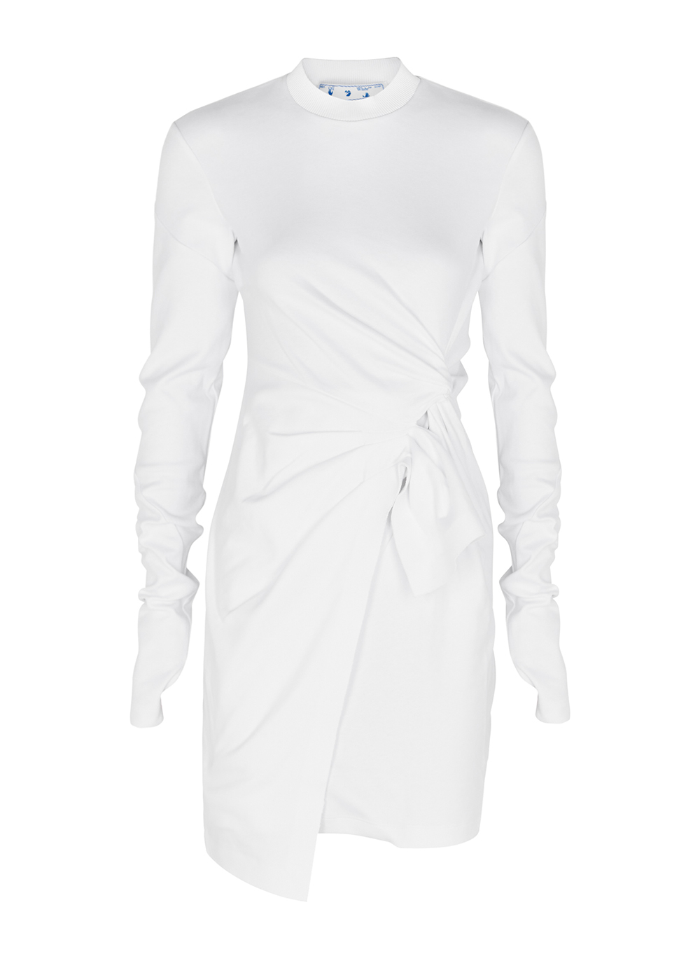 Mariacarla white cotton midi dress