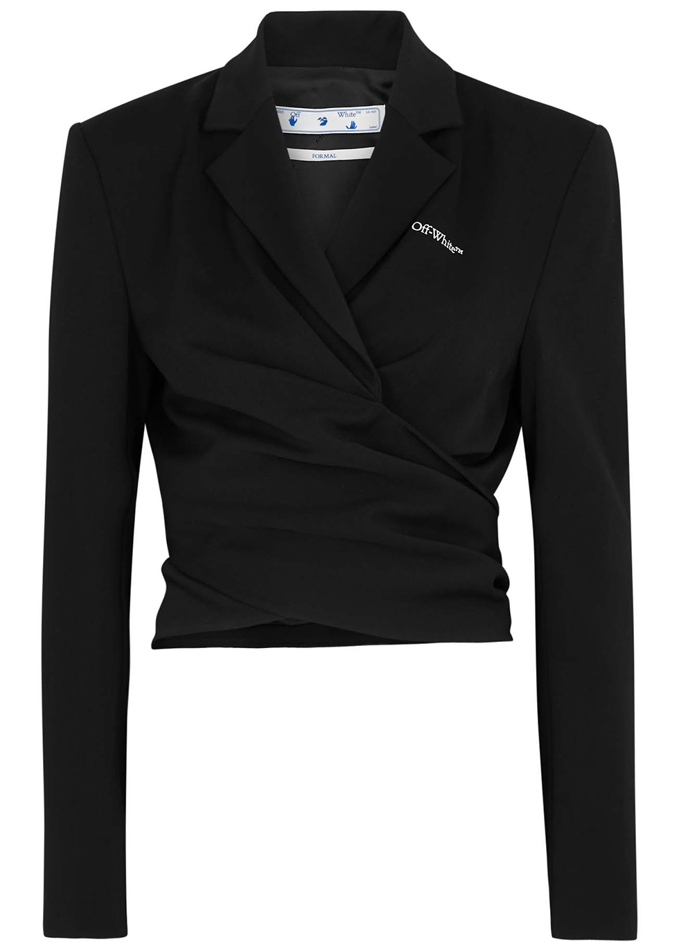 Black cropped gabardine jacket