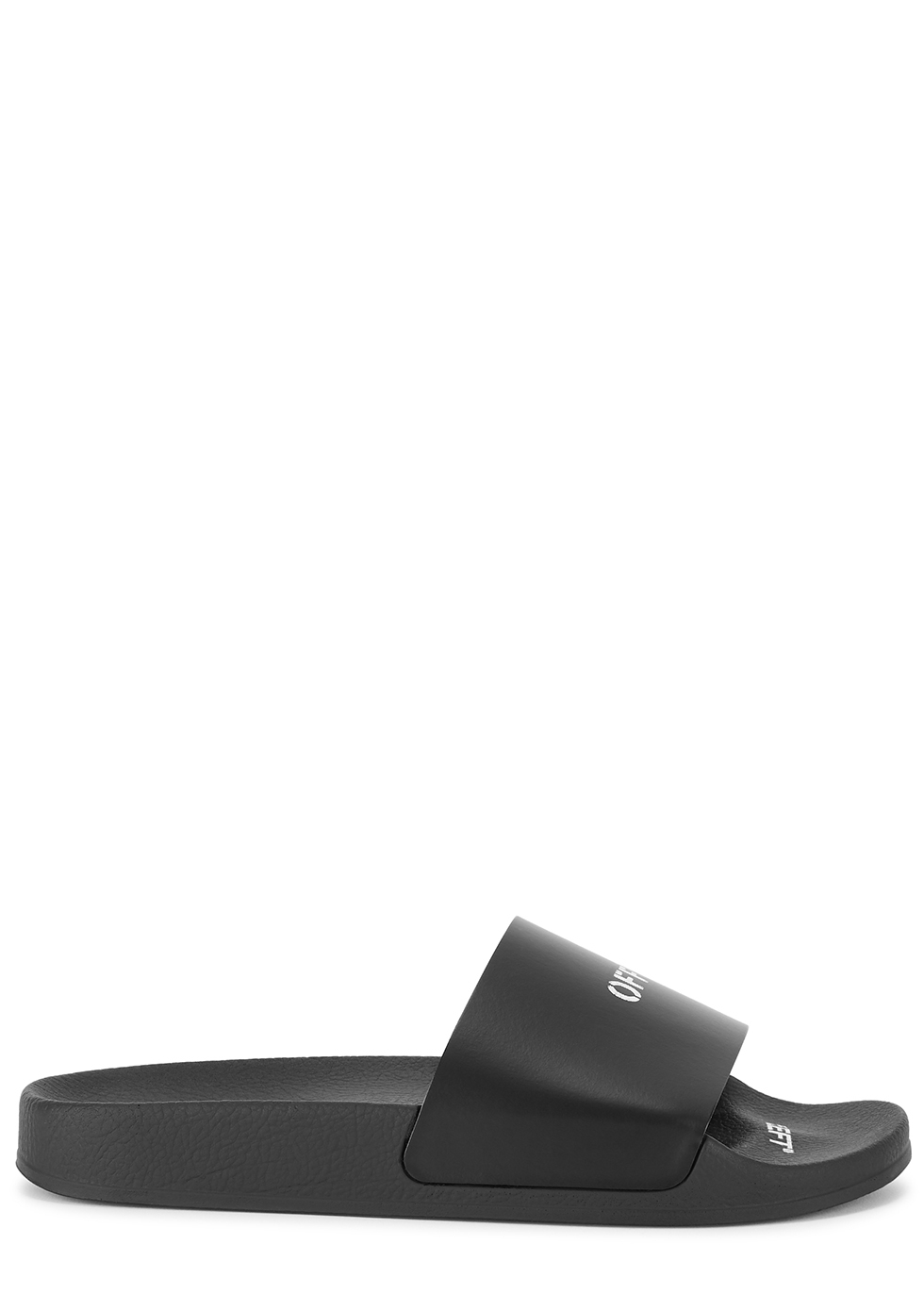 Black logo-print sliders